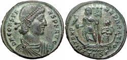 Ancient Coins - Constans. AD 337-350. Æ (22.5mm, 4.75g,)Thessalonica mint.