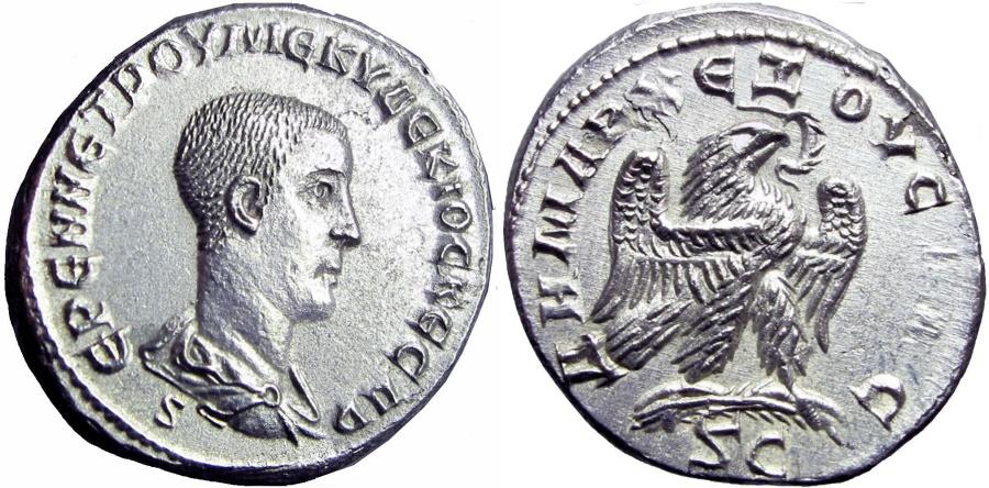 Ancient Coins -  SYRIA, Seleucis and Pieria. Antioch. Herennius Etruscus, Caesar. 251-253 AD. virtualy as struk !!!!!