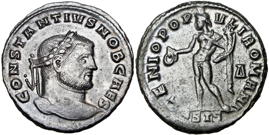 Ancient Coins -  Constantius I. As Caesar, AD 293-305.