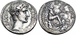 Ancient Coins - SYRIA, Seleucis and Pieria. Antioch. Augustus. 27 BC-AD 14.  millenium date 1 B.C/ 1 A.D.