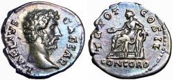 Ancient Coins - Aelius. Caesar, AD 136-138. AR Denarius , lovely example.