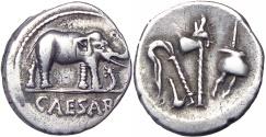 Ancient Coins - Julius Caesar. 49-48 BC. Ex NAC.