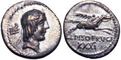 Ancient Coins - L. Calpurnius Piso Frugi. 90 BC.