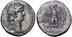 Ancient Coins - Nero AR Tetradrachm of Antioch, Seleucis and Pieria. Dated RY 10 and year 112 of the Caesarean Era = AD 63/4.