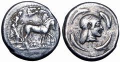 Ancient Coins - Sicily, Syracuse, c. 485-479 BC.