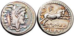 Ancient Coins - Roman republic,  L. Thorius Balbus. 105 BC. , EX NAC.