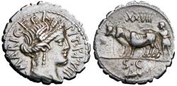 Ancient Coins - Roman republic,  C. Marius C.f. Capito. 81 BC., EX NAC.