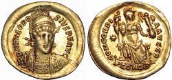 Ancient Coins - THEODOSIUS II (402-450). GOLD Solidus.