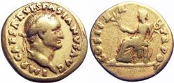 Ancient Coins - Vespasian. AD 69-79. AV Aureus .