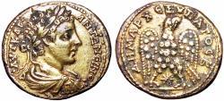 Ancient Coins - Guilded, SYRIA, Seleucis and Pieria. Laodicea ad Mare. Caracalla. AD 198-217.