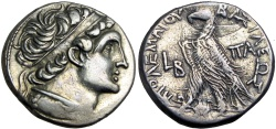 Ancient Coins - PTOLEMAIC KINGS of EGYPT. Kleopatra III & Ptolemy IX Soter II (Lathyros). 116-107 BC.