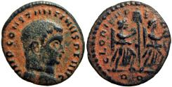 Ancient Coins - Constantine I. AD 307/310-337. Æ Half Follis , Rome mint, Lovely example !!!
