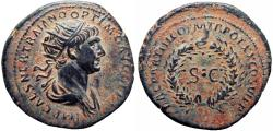 Ancient Coins - Trajan. AD 98-117. Æ As, Stunning for the type .