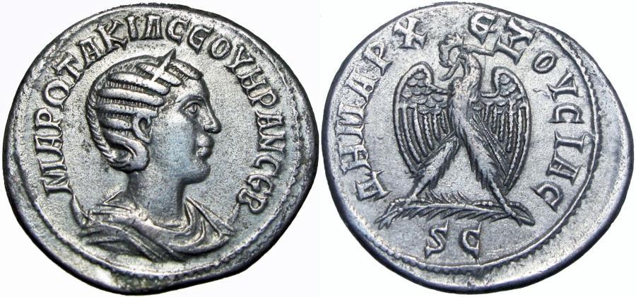 Ancient Coins - SYRIA, Seleucia and Pieria. Antioch. Otacilia Severa, wife of Philip I. Augusta, 244-249 AD.