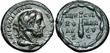 Ancient Coins - Commodus Æ As. Rome, AD 192.
