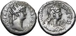 Ancient Coins - EGYPT, Alexandria. Nero, with Poppaea. AD 54-68. BI Tetradrachm, Choice portraits !!!