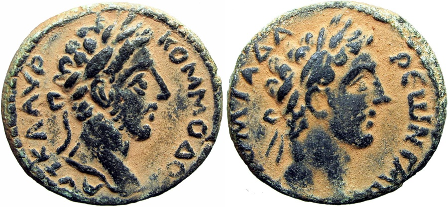 Ancient Coins - SYRIA, Decapolis. Gadara. Commodus. AD 177-192. a stunning example .