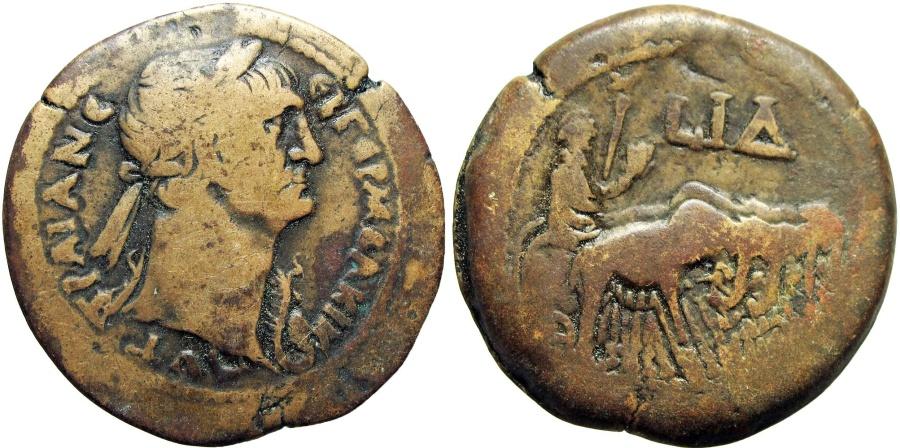 Ancient Coins - EGYPT, Alexandria. Trajan. AD 98-117. Æ Drachm .