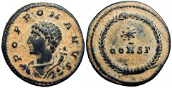 Ancient Coins - Commemorative Series. AD 330-354.  Lovely bold example !