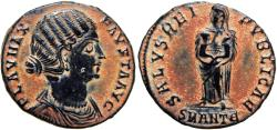 Ancient Coins - Fausta, 307-326 AD. extremely rare and superb .