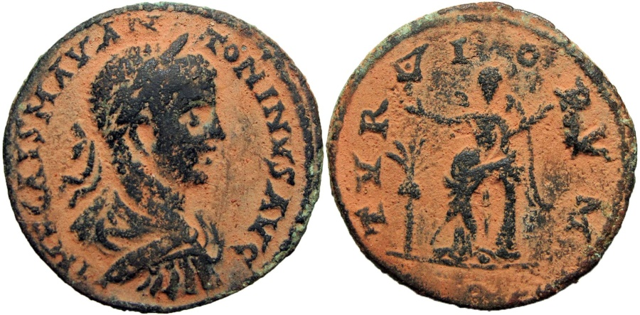 Ancient Coins - PHOENICIA, Tyre. Elagabalus. AD 218-222. Æ Chalkous .
