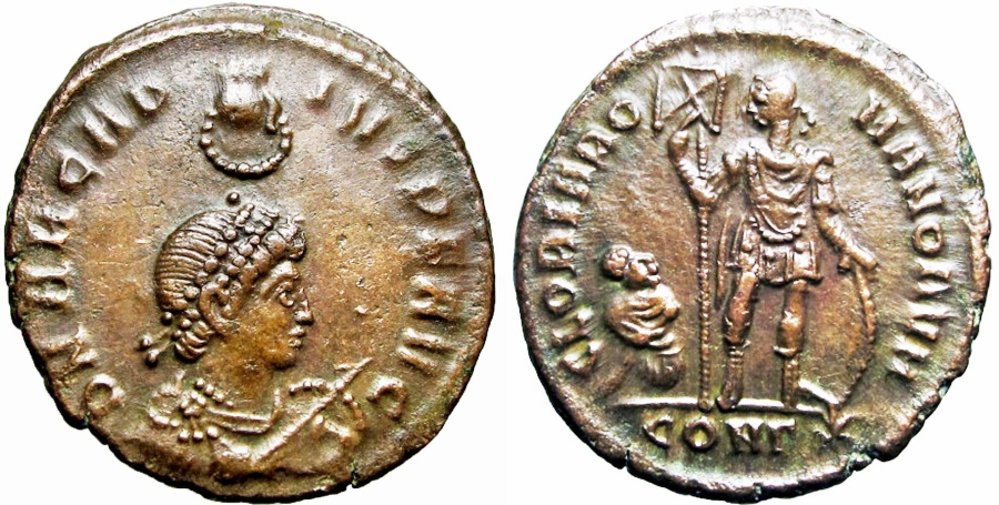 Ancient Coins - ARCADIUS. 383-408 AD. Lovely example !!!