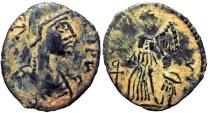 Ancient Coins - Zeno. First reign, AD 474-475. Rare helmeted Zeno !!!!