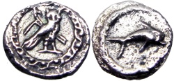 Ancient Coins - PHOENICIA, Tyre. Uncertain king. Circa 393-311/0 BC. AR Sixteenth Shekel.