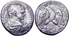 Ancient Coins - Biblical, Decapolis. Gadara. Caracalla. AD 198-217. AR Tetradrachm
