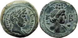 Ancient Coins - EGYPT, Alexandria. Hadrian. AD 117-138. Æ Obol .