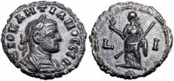 Ancient Coins - Diocletian, AD 295-305 , Potin Tetradrachm, Lovely example.