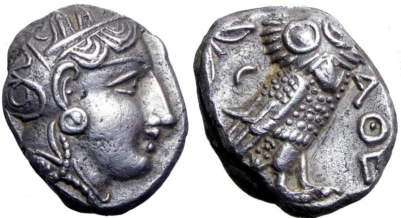 Ancient Coins - ATTICA, Athens. Circa 353-294 BC.