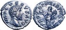 Ancient Coins - Lucius Verus AR Denarius. Rome, AD 163.