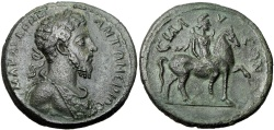Ancient Coins - PAMPHYLIA, Sillyum. Commodus. AD 177-192. Æ Medallion, Extremely Rare !!!