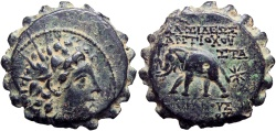 Ancient Coins - SELEUKID KINGS of SYRIA. Antiochos VI Dionysos. 145-142 BC. Lovely details !!!