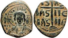Ancient Coins - Anonymous Folles. temp. Romanus III, circa 1028-1034. Good portrait of Christ.