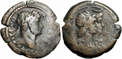 Ancient Coins - EGYPT, Alexandria. Hadrian. AD 117-138. Æ Drachm , Probably Unique and unpublished !!!!!