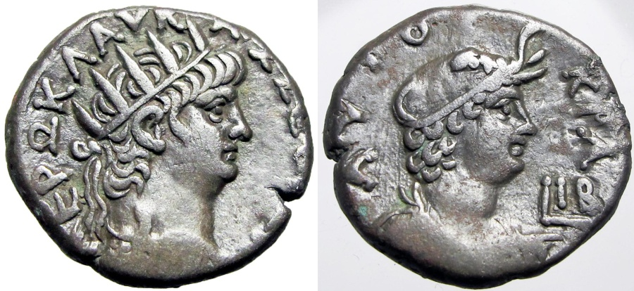Ancient Coins - EGYPT, Alexandria. Nero. 54-68 AD. AR Tetradrachm, Choice metal and weight !!!