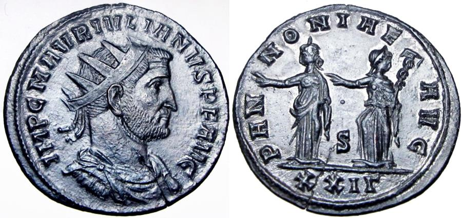 Ancient Coins - Julian of Pannonia (usurper, AD 284-285). Stunning example.