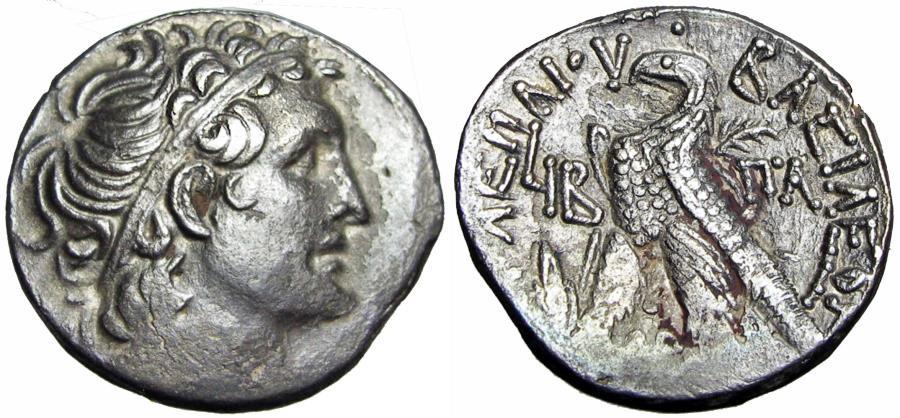 Ancient Coins - Ptolemaic Kings of Egypt, Kleopatra VII Thea Neotera AR Tetradrachm. EXTEREMLY RARE.