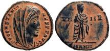 Divus Constantine I. Died AD 337. struck on board flan with Natural patina !!!