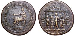 Ancient Coins - Caligula Æ Sestertius. Rome, AD 37-38.