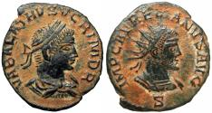 Ancient Coins - Aurelian, with Vabalathus. AD 270-275.