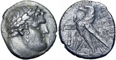 Ancient Coins - PHOENICIA, Tyre. 126/5 BC-AD 65/6. AR Shekel, JUDAS' 30 PIECES OF SILVER, Rare Date !!!