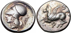 Ancient Coins - CORINTHIA, CORINTH AR STATER. CIRCA 345-307 BC. FROM THE JOHN HAYES COLLECTION.