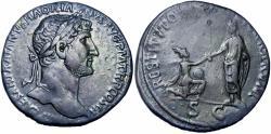 Ancient Coins - Hadrian. AD 117-138. Rare .