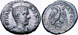 Ancient Coins - Diadumenian, as Caesar, AR Tetradrachm of Gaza, Judaea. AD 217-218. Extremely rare.