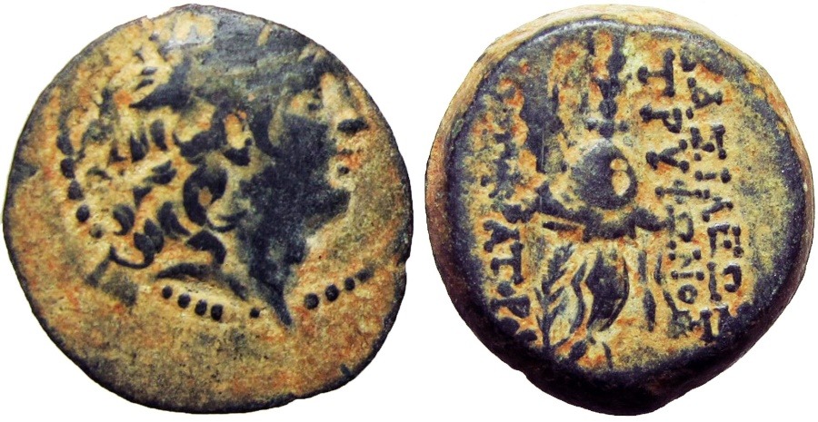 Ancient Coins - SELEUKID KINGS of SYRIA. Tryphon. Circa 142-138 BC.