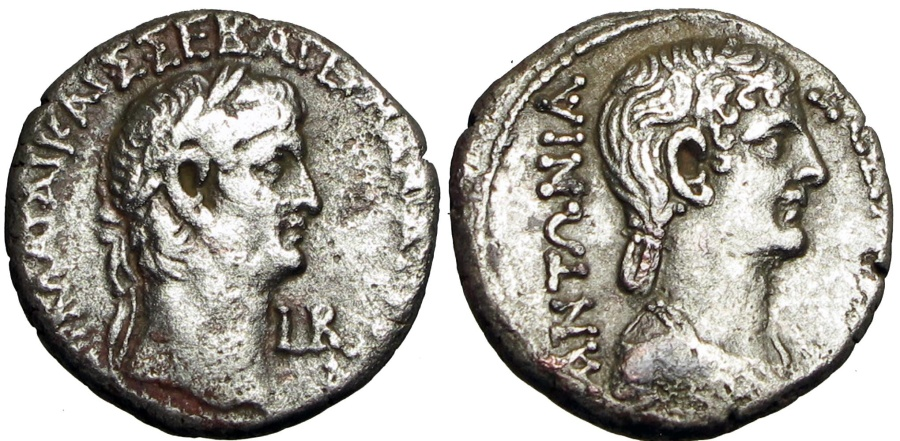 Ancient Coins - EGYPT, Alexandria. Claudius, with Antonia. AD 41-54.