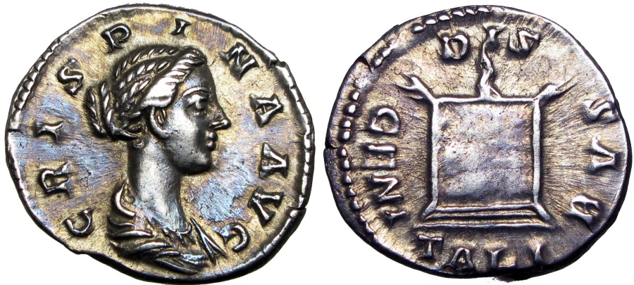 Ancient Coins - Crispina. Augusta, AD 178-182. , Stunning old cabinet toning , and sharply struck , lustrous  !!!